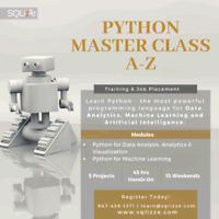 Python Master Class A-Z! Training & Job Placement! Jan 27.