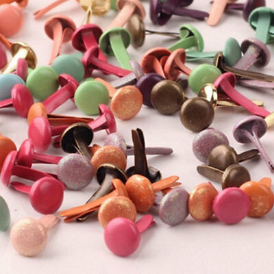 Metal Craft Multicolor Mix Brads Paper Fasteners Scrapbooking Card 100Pcs OKT for sale  Shipping to Canada