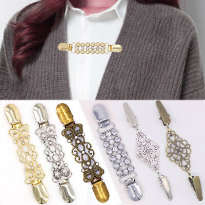 Lady Cardigan Sweater Blouse Shawl Clips Brooch Shirt Collar Duck Clip - Shirt Clips