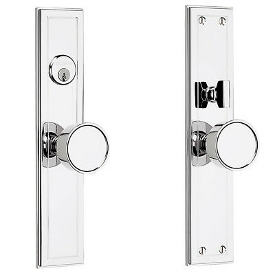 Baldwin 6945.260 Hollywood Hills Knob Entrance Trim in Polished Chrome (Highly -