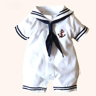 Neugeborenes Baby Mädchen Anker Seemann Kostüm Strampler Body Sunsuit Outfits