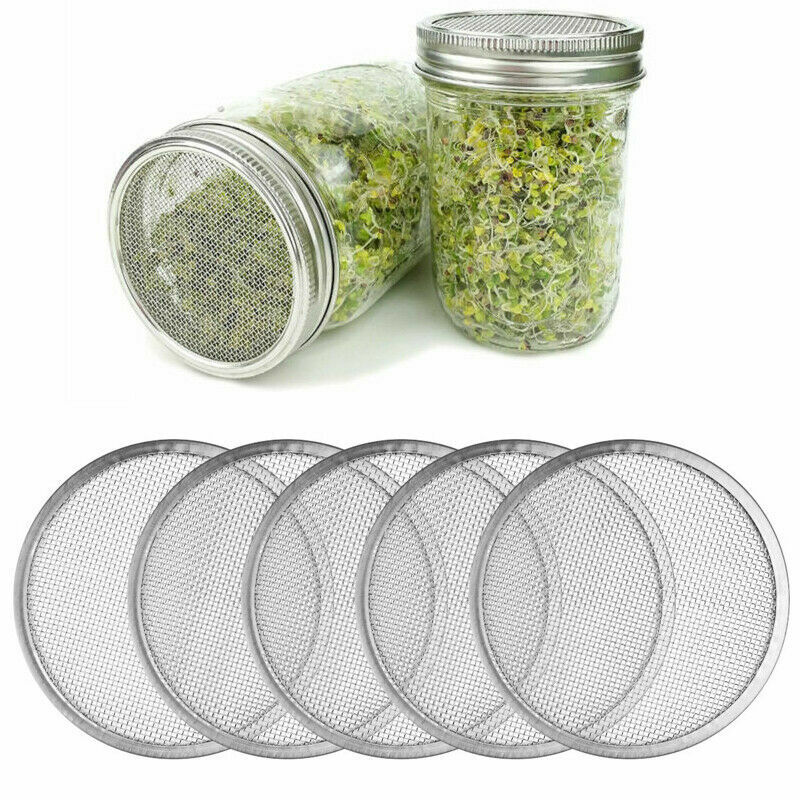Wide Mouth Canning Jar Rings Stainless Steel Screw Bands For Mason Jars 10Pcs