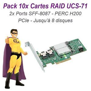 Lote-de-10-Tarjetas-Raid-Controller-PCIe-UCS-71-B-Sata-SAS-DELL-PERC-H200-H216J
