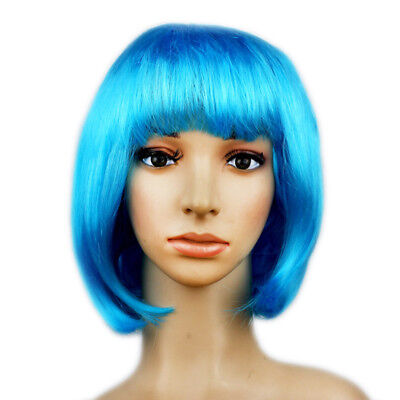 1 Pc PET Dress Up Short Hair Wave Head Wigs Christmas Halloween for Adult Kids