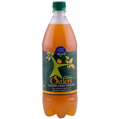 """Ostlers Cloudy Apple Cider Vinegar With """"The Mother"""" 1 Litre Unfiltered"""