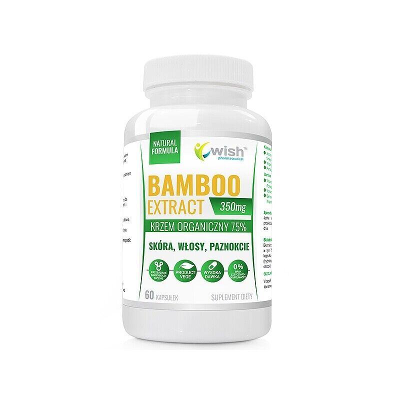 BAMBUS EXTRAKT 350mg  - 60 VegeKaps® Organisches Silizium 75% Bamboo - VEGE