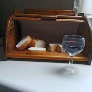 Vintage Bread Box with accessories