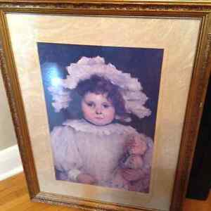 Limited Edition Bombay Co. framed print - girl with doll