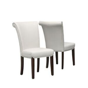 White Dining Chair (Set of 2) - New in Box (YOU SAVE $170)