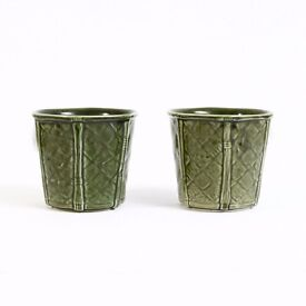 Vintage Lattice Style 70's Plant Pots by Churchill England at kode-store