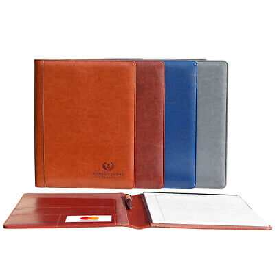 Italian Tuscan Leather Business Padfolio Portfolio Organizer Folder 3 Colors