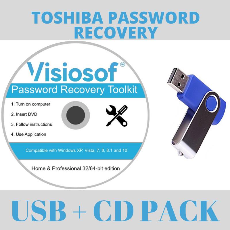 TOSHIBA Password Recovery Software Reset Disk USB Windows 10 8 7 Vista XP