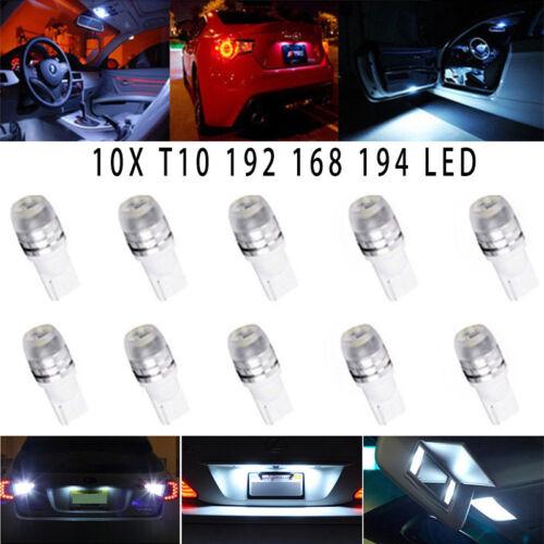 10X T10 Wedge High Power 1W LED Light Bulbs Xenon White 147 192 168 194 280 2825