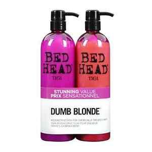 TIGI Bed Head Colour Combat Dumb Blonde Shampoo & Conditioner 750ml Tween