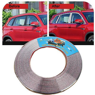 (15M 6mm Moulding Trim Silver Chrome Strip Car Door Edge Window Bumper Grille DIY)