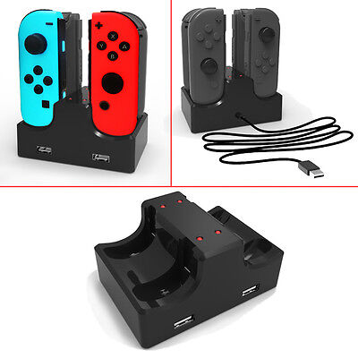 Nintendo Switch Joy-Con Charge Stand 4-Controllers Desktop Charging Dock Charger