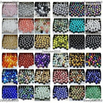 Beads - Wholesale Natural Gemstone Round Spacer Loose Beads 4mm 6mm 8mm 10mm 12mm Pick