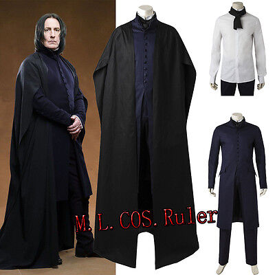 Original Professor Severus Snape Cosplay Costume Halloween Carnival Full Outfit ](Professor Halloween Costume)