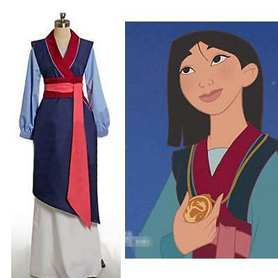 Halloween Anime Cosplay Costume Hua Mulan Princess Dress Chinese Ancient Costume (Mulan Kostüme)