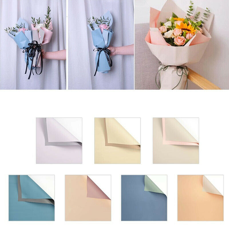 20PCS Waterproof Duplex Flower Wrapping Packaging Paper Florist Wedding Decor