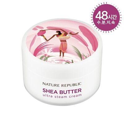 Korea Cosmetic [Nature Republic]Shea Butter Steam Cream Ultra 3.38oz Free TR.NO.