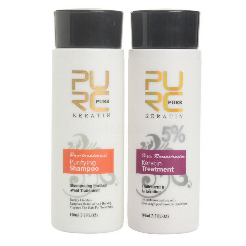 Pure Brazilian Keratin Hair Set Straightening and Repair Tre