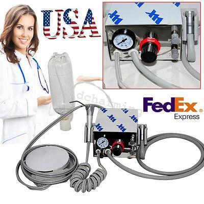 Usa Portable Dental Air Turbine Unit Work W Compressor 4h Syringe Water Bottle
