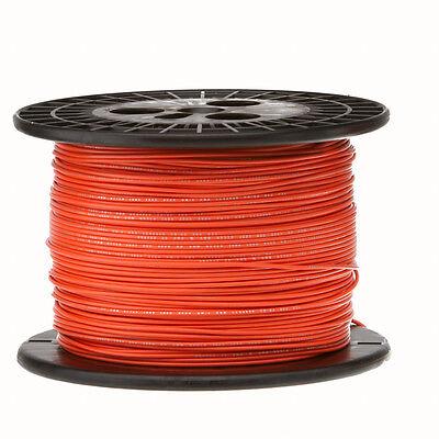 22 Awg Gauge Solid Hook Up Wire Orange 1000 Ft 0.0253 Ul1007 300 Volts