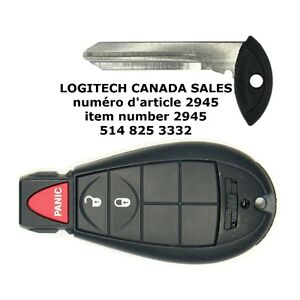 Smart Key Shell Case Dodge Durango Journey 3Buttons