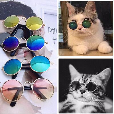 Pet Cat Dog Fashion Sunglasses UV Sun Glasses Eye Protection Wear Random Color