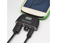 4in1 OTG TF SD Card Reader with Micro USB Charge Port