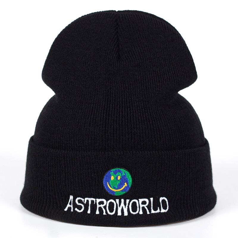 8c8147a2517 New Travis Scott Beanie Astroworld Black Hat Tour Merch Cap Off White  Supreme Nike Rodeo A cold wall
