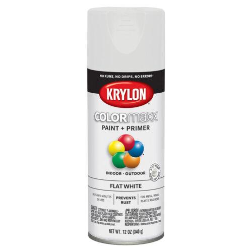 Krylon ColorMaxx Flat White Paint + Primer Spray Paint 12 oz.