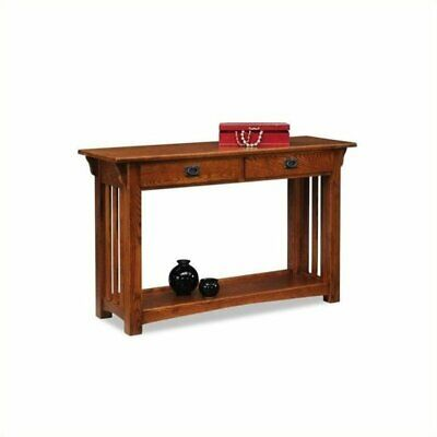 Bowery Hill Mission Console Table with Drawers and Shelf in Oak for sale  Sterling