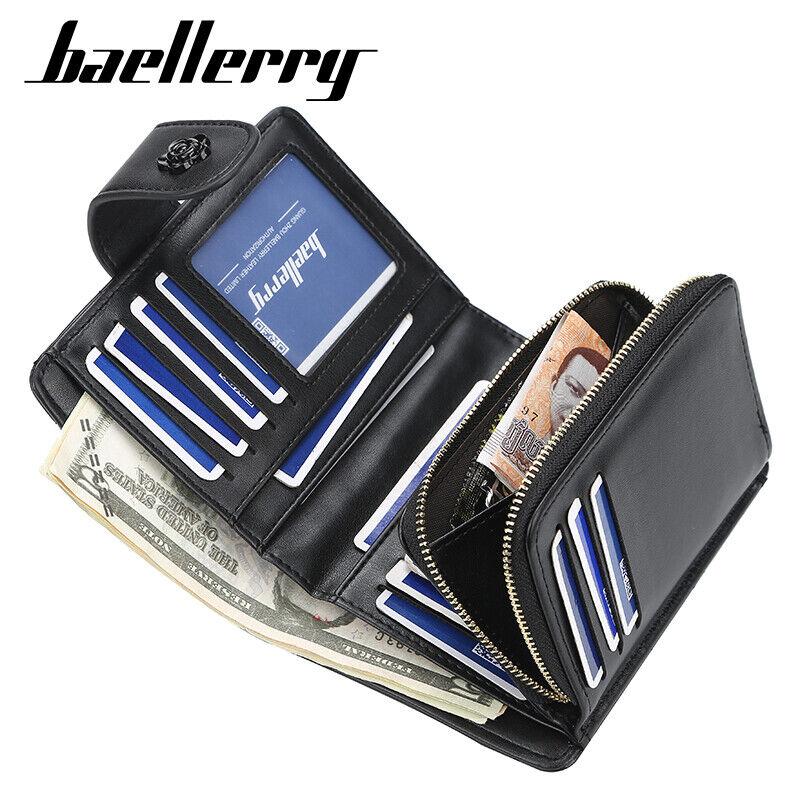 RFID Blocking Women Leather Wallets Bifold Zipper Card Holder Mini Purse Handbag Clothing, Shoes & Accessories