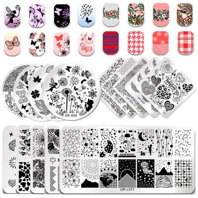 UR SUGAR Rose Flower Nail Art Stamping Plates Dreamcatcher Halloween - Halloween Nail Art Stamping