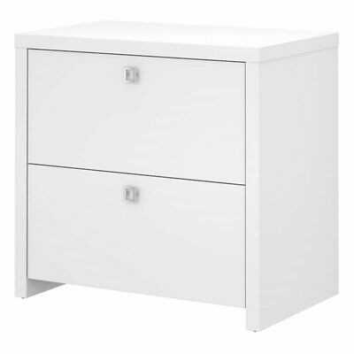 Bbf Echo By Kathy Ireland Lateral File Cabinet In Pure White