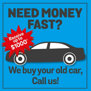 We buy your old car for TOP CASH!