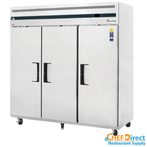 "Everest Esr3 75"" 3 Door Reach-in Refrigerator"