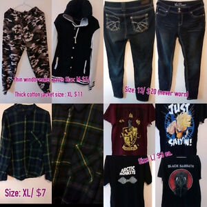 Lots of Women's and Unisex Clothing