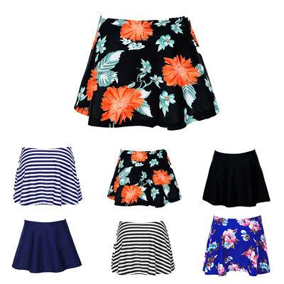 Women Mix Bikini Bottom Skirt Ruffled Brief Short Skirt Plus Size Swim Skirt -