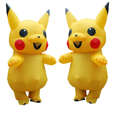 Inflatable Costume Mascot Lovely Yellow Pikachu For Kids Adult Christmas Carnava (Pikachu Costume Adult)