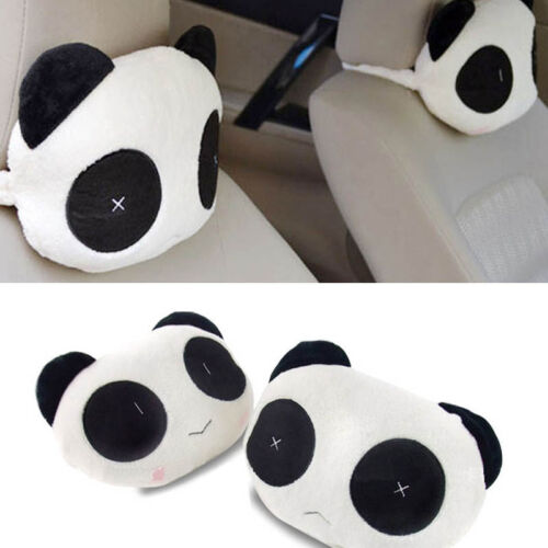 Comfortable Panda Cartoons Car Headrest Neck Guard Head Pillow Automotive Pillow