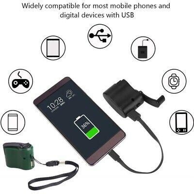 emergency hand crank dynamo phone generator usb