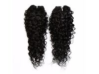 """Kinky Curly Afro Hair Extensions Weave - 22"""" - #1 Black"""