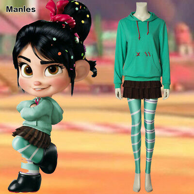Vanellope von Schweetz Cosplay Wreck It Ralph 2 Costume Outfits Halloween Women](Wreck It Ralph Halloween Costumes)