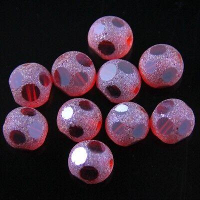 - Swaro/vski 12 Pcs 8mm dull polish football Crystal beads B red