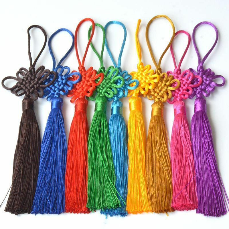 5X Handmade Chinese Knot Tassel Craft Gift Jewelry Making DIY Feng Shui Pendant