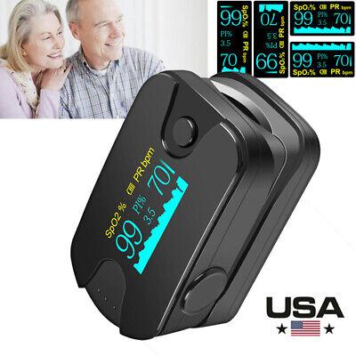Oled Display Fingertip Pulse Oximeter Spo2 Pr Pi Heart Rate Monitor Health Tool