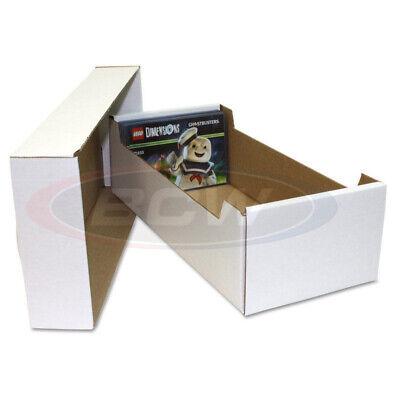 (3) BCW POSTCARD or 4X6 PHOTO WHITE CARDBOARD STORAGE BOX ORGANIZER HOLDERS 4 X 6 Photo Storage Boxes